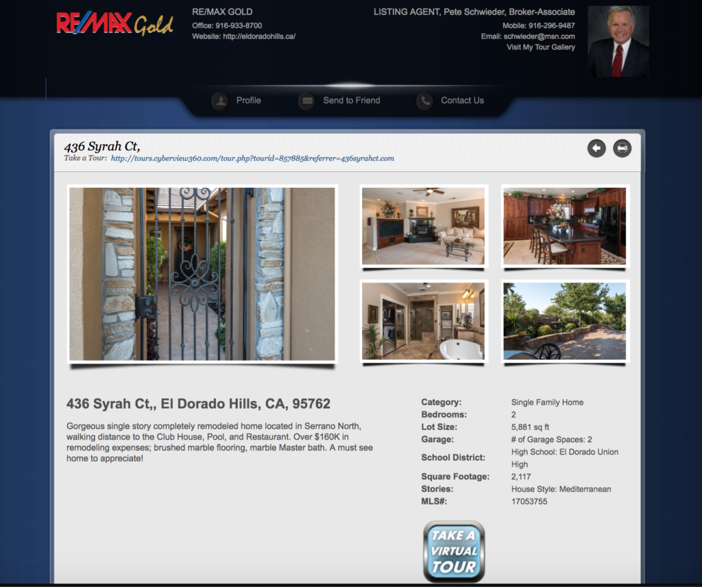 Single Property Website Example